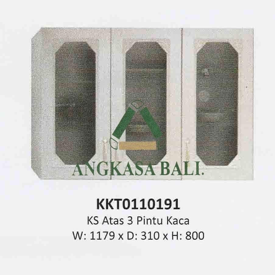 Kitchen Set Atas 3 Pintu Kaca Emerald Olympic Di Bali Angkasa Bali